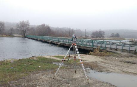 Геодезическая съемка для проектирования покрытия моста через р. Воронеж Рамонский район